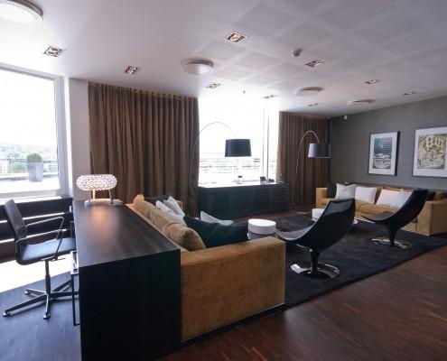 Luksuriøs lounge i toppetasjen