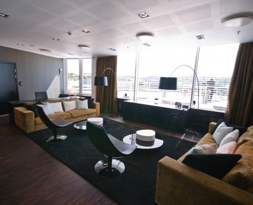 Interiørarkitekt Berentsen: Lounge i konsern i Oslo