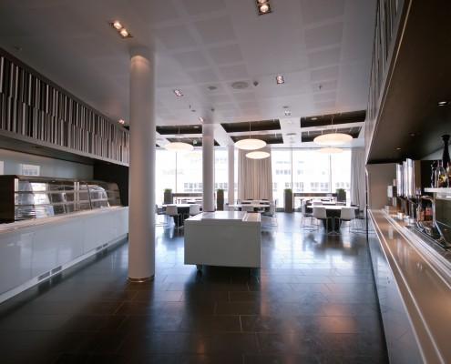 Lunsjrestaurant privat næringsliv interiørarkitekt Berentsen
