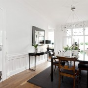 Interiørarkitekt Oslo hvit spisestue med kontraster berentsen interiørarkitekter