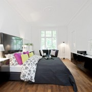 Interiørarkitekt Oslo Master bedroom på Frogner med IKEA-skap Berentsen interiørarkitekter